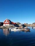 Villaggio di Oqaatsut, Groenlandia Fotografia Stock