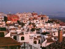 Villaggio di pendio di collina spagnolo fotografie stock libere da diritti
