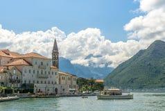 Villaggio di Perast nel Montenegro Fotografia Stock