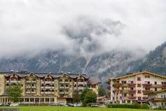 Villaggio di Pertisau alle alpi, Austria Fotografia Stock Libera da Diritti