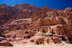 Villaggio di PETRA in Jordan Asia immagine stock