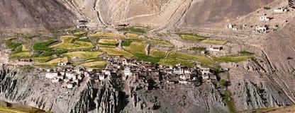 Villaggio di Photoksar - viaggio di Zanskar - l'India Immagine Stock Libera da Diritti