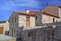 Villaggio di pietra tipico Fotografie Stock Libere da Diritti