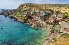 Villaggio di Popeye - Malta immagine stock libera da diritti