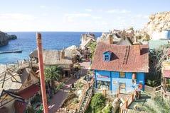 Villaggio di Popeye a Malta Fotografia Stock Libera da Diritti