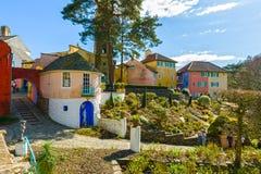 Villaggio di Portmeirion, Galles del nord Fotografia Stock Libera da Diritti