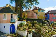 Villaggio di Portmeirion, Galles del nord Fotografie Stock Libere da Diritti