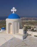 Villaggio di Pyrgos, Santorini  Fotografia Stock Libera da Diritti