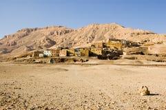 Villaggio di Qurnet Mura'I, Luxor, Egitto Immagini Stock Libere da Diritti