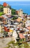 Villaggio di Riomaggiore, terre di Cinque Immagini Stock Libere da Diritti