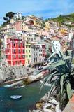 Villaggio di Riomaggiore, terre di Cinque Fotografie Stock Libere da Diritti
