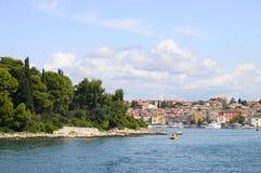 Villaggio di Rovigno in Croazia Fotografia Stock