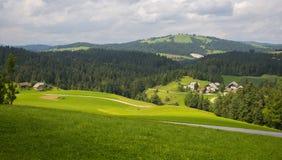 Villaggio di Rovte, Slovenia Fotografie Stock Libere da Diritti