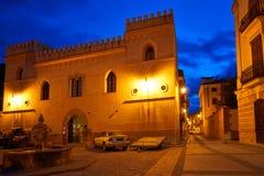 Villaggio di Rubielos de Mora a Teruel Spagna fotografia stock libera da diritti