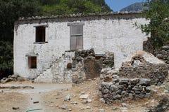 Villaggio di Samaria nella gola di samaria Immagine Stock Libera da Diritti