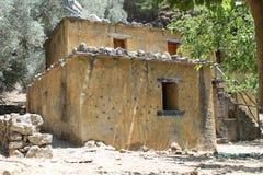Villaggio di Samaria nella gola di samaria Fotografia Stock Libera da Diritti