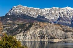 Villaggio di Sauze du Lac e grande Morgon, inverno Alpi, Francia Fotografia Stock