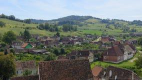 Villaggio di Saxon, la Transilvania, Romania Immagine Stock