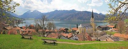 Villaggio di schliersee del punto panoramico, Baviera Fotografia Stock Libera da Diritti