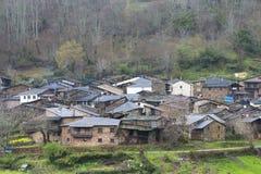 Villaggio di Seceda nelle montagne della O Courel Spagna Fotografie Stock