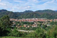 Villaggio di Serravalle Sesia Fotografia Stock Libera da Diritti