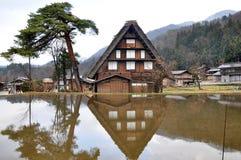 Villaggio di Shirakawago Immagine Stock