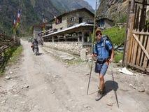 Villaggio di Shratang, Nepal Fotografia Stock Libera da Diritti