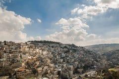 Villaggio di Silwan a Gerusalemme Fotografia Stock Libera da Diritti
