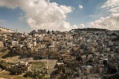 Villaggio di Silwan a Gerusalemme Fotografie Stock Libere da Diritti