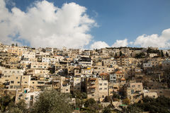 Villaggio di Silwan a Gerusalemme Immagine Stock Libera da Diritti