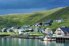 Villaggio di Skarsvag, Norvegia Fotografia Stock