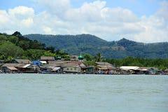 Villaggio di spiaggia Fotografia Stock Libera da Diritti