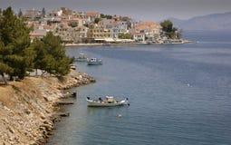 Villaggio di spiaggia del Med Fotografia Stock Libera da Diritti