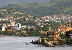 Villaggio di spiaggia messicano Immagini Stock Libere da Diritti
