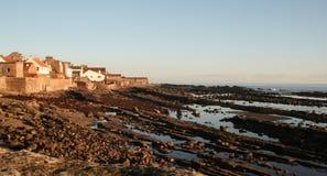 Villaggio di spiaggia scozzese fotografia stock