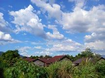 Villaggio di stile della Malesia Fotografia Stock