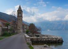 Villaggio di Stoliv. Il Montenegro Immagine Stock