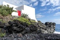 Villaggio di Stromboli sull'isola di Stromboli immagini stock