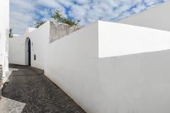 Villaggio di Stromboli sull'isola di Stromboli fotografie stock