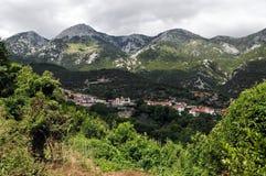 Villaggio di Stropones nella regione di Evia in Grecia fotografia stock