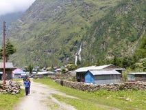 Villaggio di Tal nel Nepal Fotografie Stock Libere da Diritti