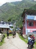 Villaggio di Tal nel Nepal Fotografia Stock Libera da Diritti