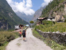 Villaggio di Talekhu, Nepal Immagini Stock