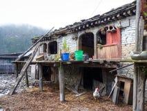 Villaggio di Tanchok, Nepal Fotografie Stock Libere da Diritti