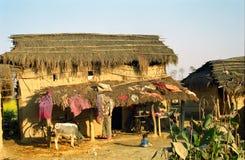 Villaggio di Tharu, parco nazionale di Chittawan, Nepal Immagine Stock