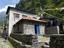 Villaggio di Thoche, Nepal Fotografie Stock