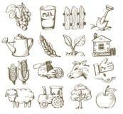 Villaggio di tiraggio della mano illustrazione di stock