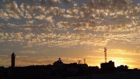 Villaggio di tramonto della Giordania del ajloun di Hashmiyyah Fotografia Stock