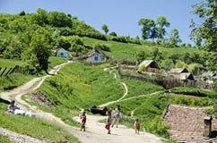Villaggio di Transylvanian Immagini Stock Libere da Diritti