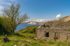 Villaggio di Tyneham, costa giurassica, Dorset, Regno Unito fotografia stock libera da diritti